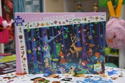 Puzzle La forêt enchantée 100 pcs Djeco