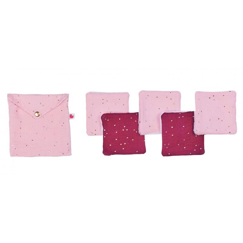 Lingettes lavables rose BB&co