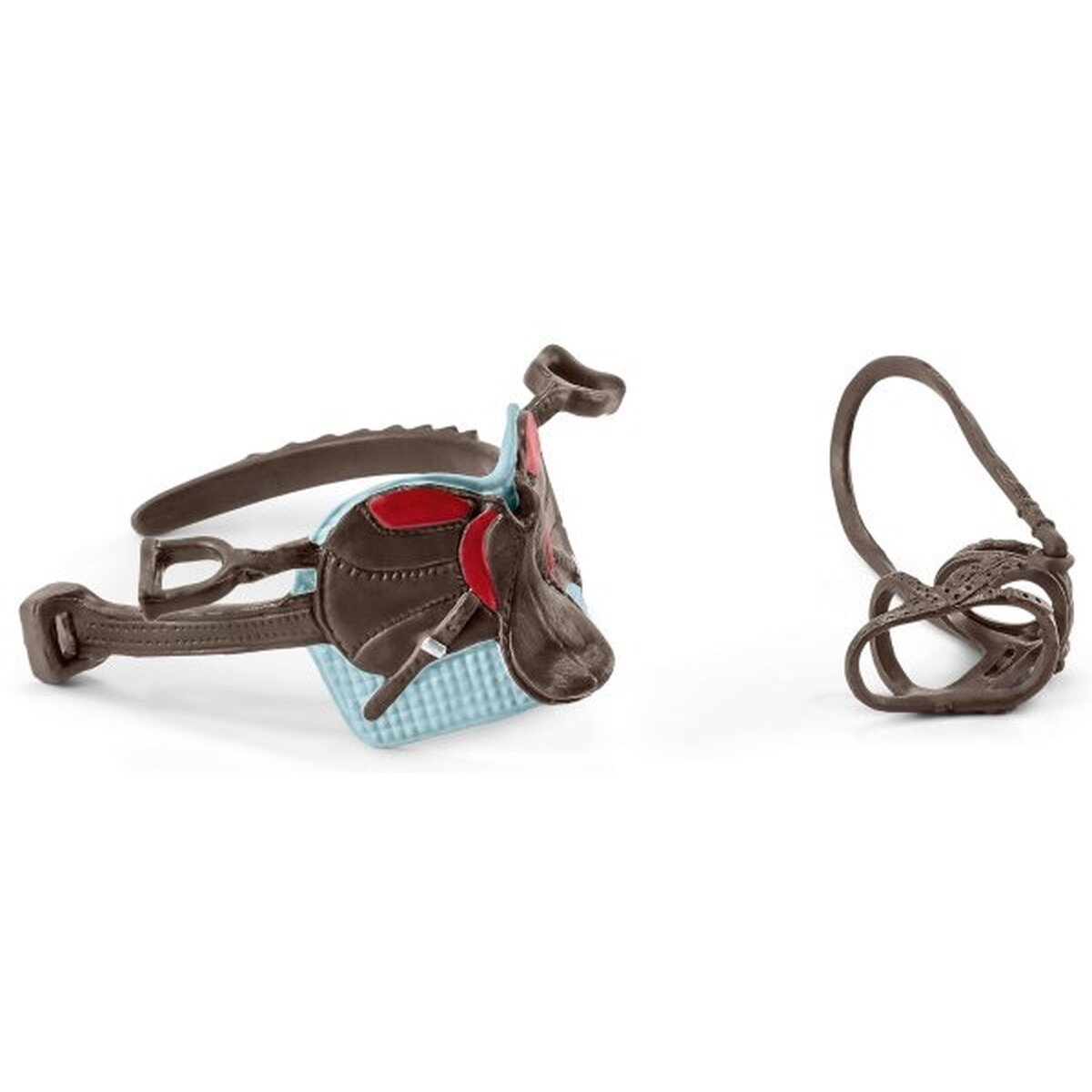 Accessoires pour chevaux (bleu et rouge) Schleich