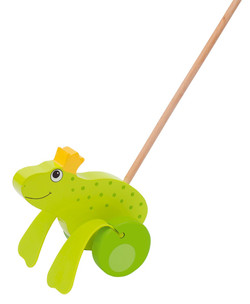 Jouet à pousser Roi des grenouilles Goki