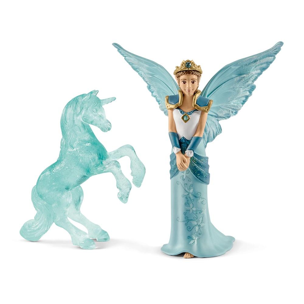 Eyela avec sculpture licorne de glace Schleich