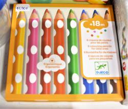 8 crayons de couleurs pour les petits Djeco