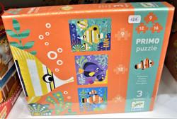 Puzzle poissons 9, 12 & 16 pièces 3 ans