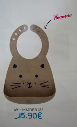 Bavoir en silicone chat BB&Co