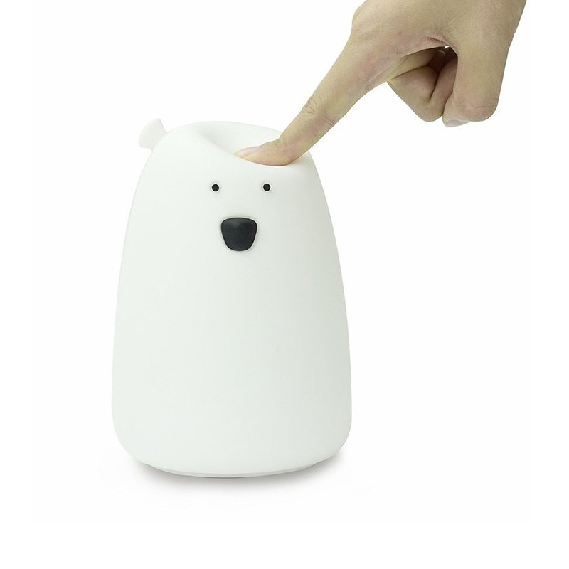 Lil'bear blanc veilleuse tactile Little