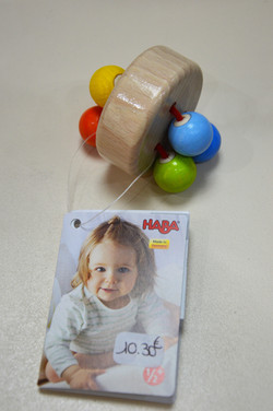 Hochet boules multicolores Haba
