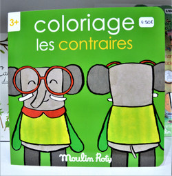 Coloriage les contraires Moulin Roty