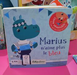 Livre réversible Marius/bleu Anaïs/rose Lilliputiens