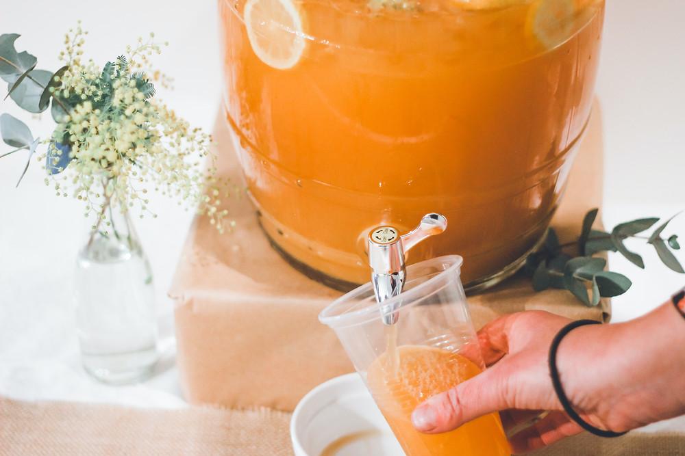 Fruit drinks dispenser