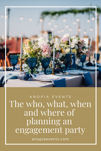 Planning an outdoor engagement party