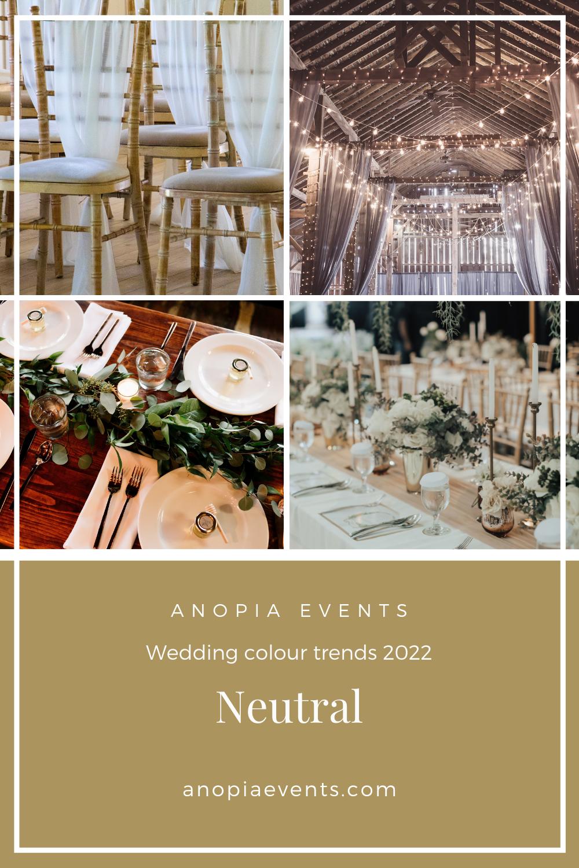 Neutral wedding colour scheme inspiration