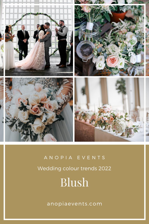 Blush wedding colour scheme inspiration