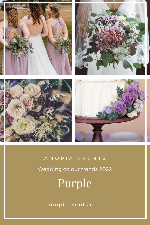 Purple wedding colour scheme inspiration