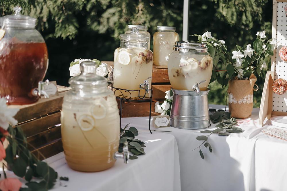 Outdoor bar for summer garden party