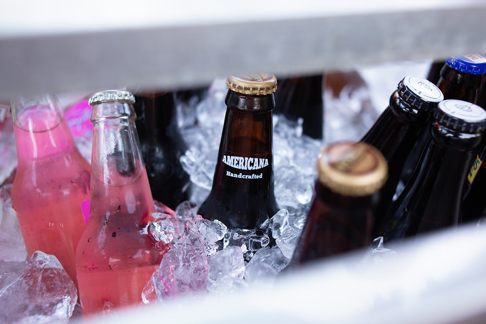 Drinks in ice