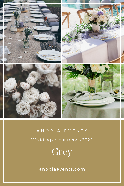 Grey wedding colour scheme inspiration