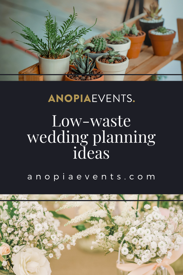 Low-waste wedding ideas