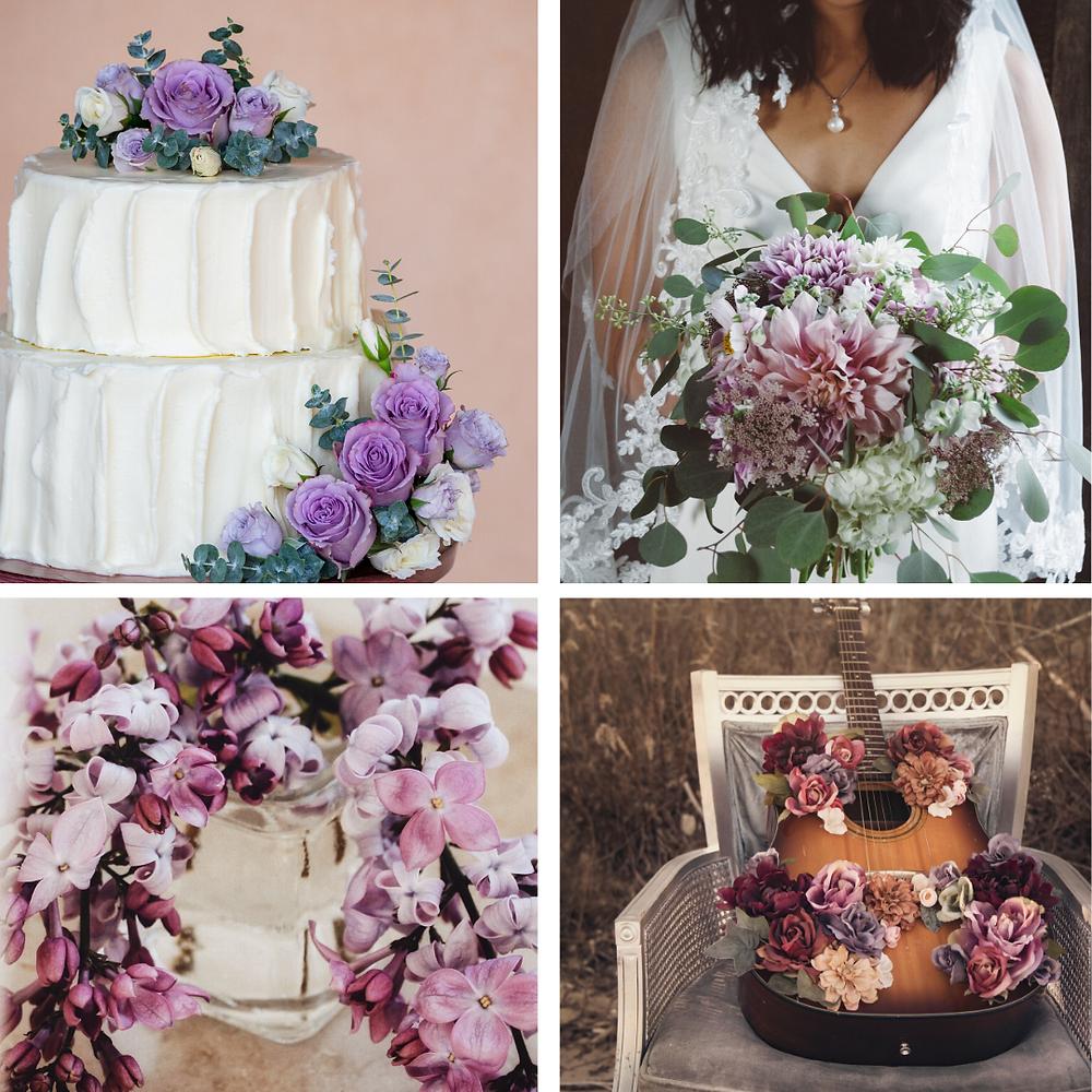 Lilac and purple Wedding Colour Scheme 2021/2022