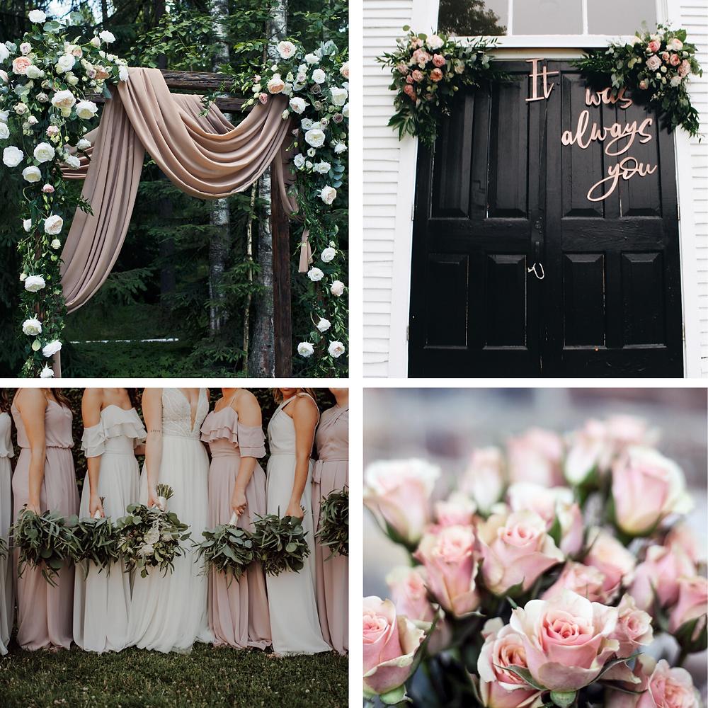 Pink and sage Wedding Colour Scheme 2021/2022