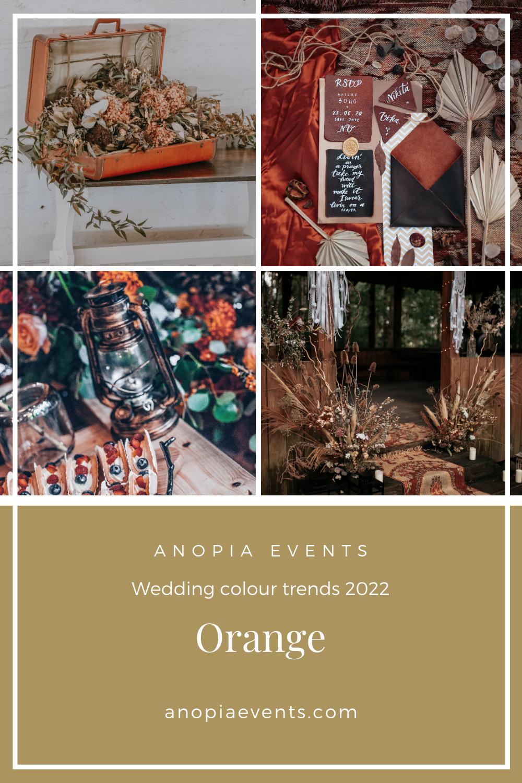 Orange wedding colour scheme inspiration