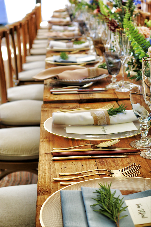 Green wedding table