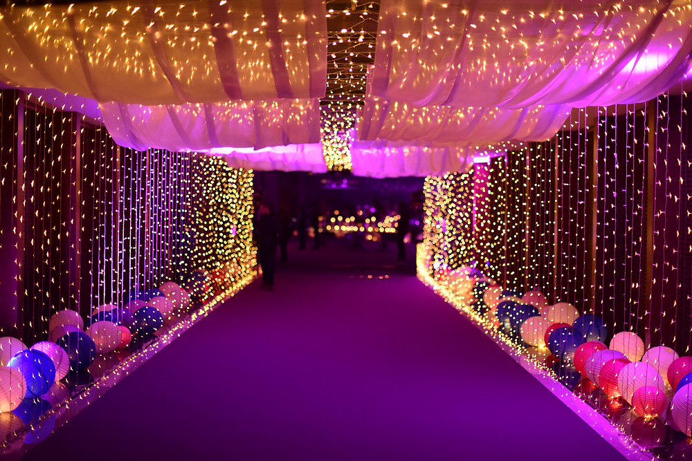 Luxury event decor - Lights and Balloons