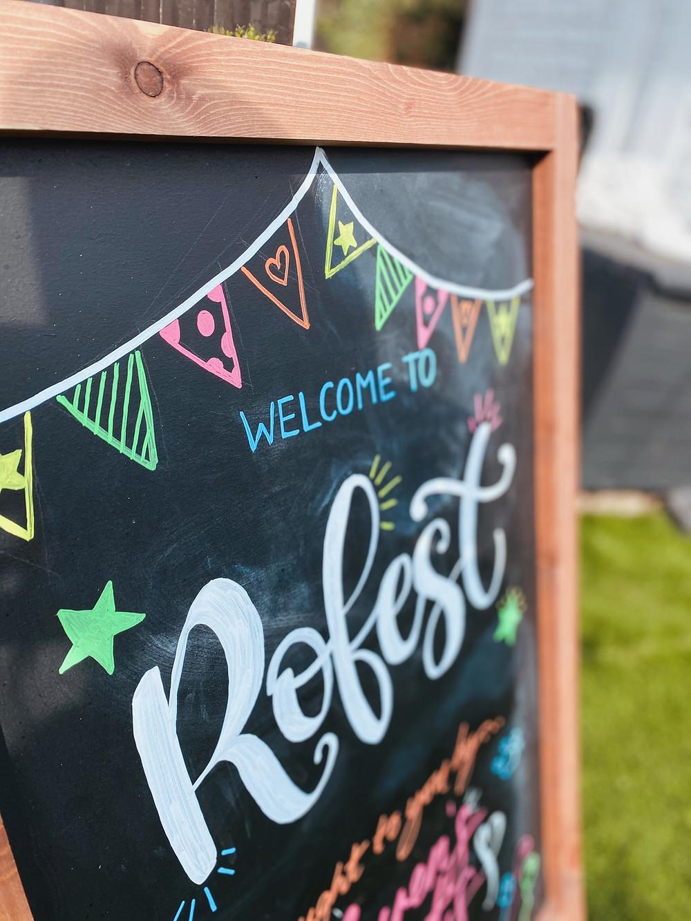 Personalised festival A-Board
