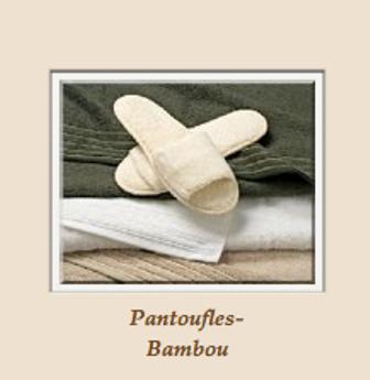 Pantoufles en bambou