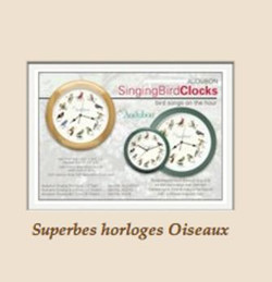 Horloges chants d'oiseau