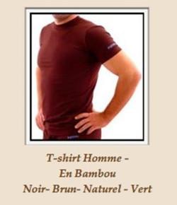 T-Shirt hommes en bambou
