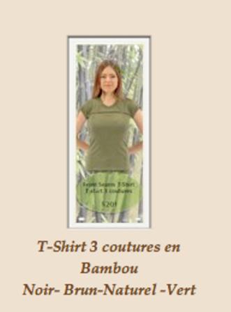 T-Shirt femmes en bambou