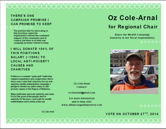 Oz Cole-Arnal's Anti-Poverty Platform for Regional Chair Candidacy