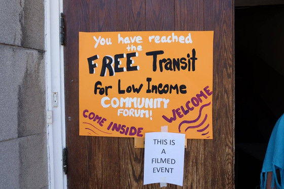 Community Forum on Free Transit for Low Income Individuals