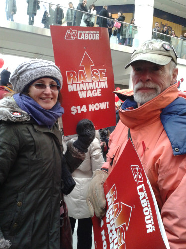 Family Day rally for $14 Minimum WAge