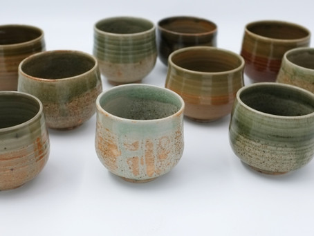 11 Green Teabowls