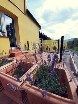 PROVENCE balkon (pohled z balkonu apartmá ZEN)