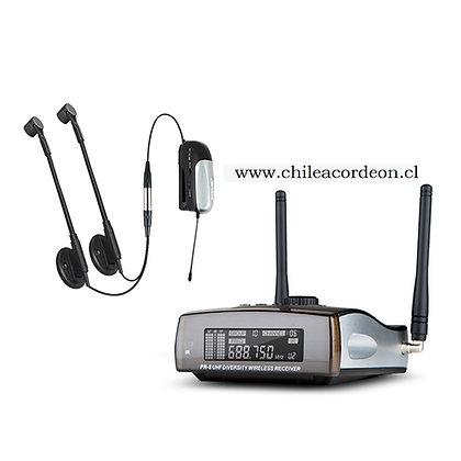 Sistema de Micrófono Inalámbrico Doble para Acordeón