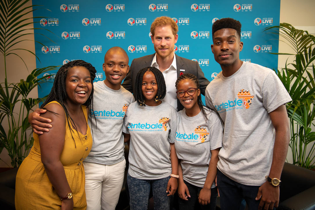 The Duke of Sussex with Mercy Ngulube an