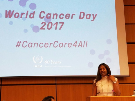 Kim Simplis Barrow - IAEA World Cancer D