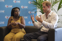 The Duke of Sussex with Mercy Ngulube du