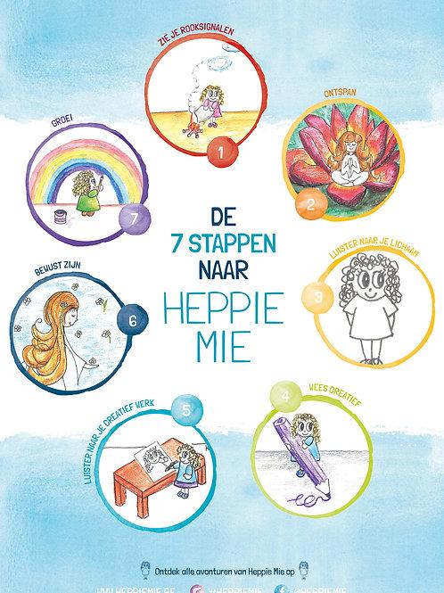 POSTER 'De 7 stappen naar Heppie Mie'