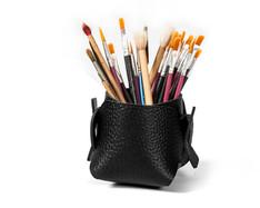 boodo leather penholder black textured n