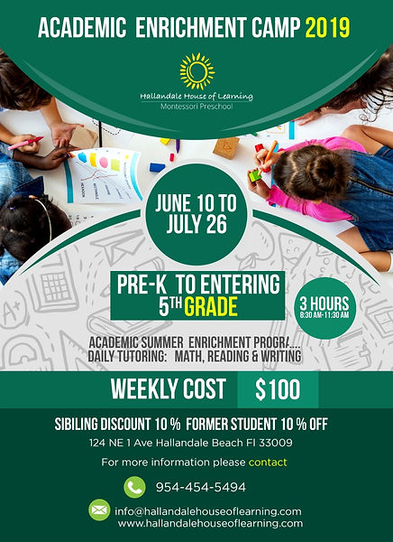 HHOL Enrichment Academic Program Ad 2019