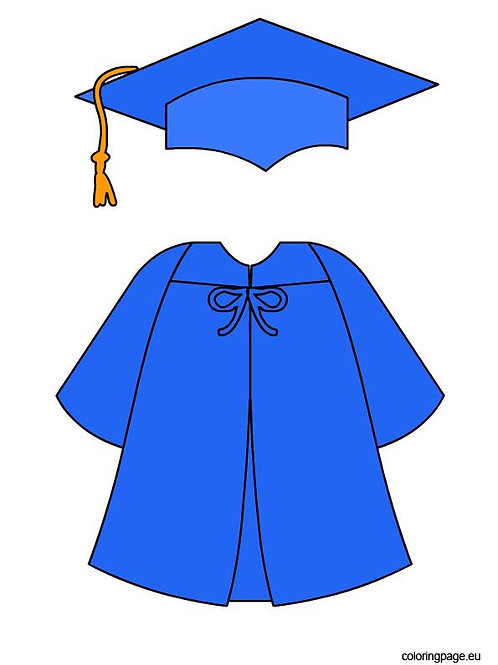 Cap & Gown Large
