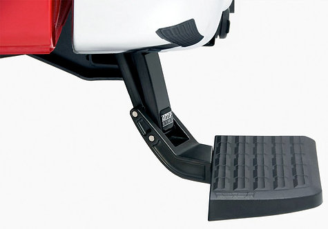 AMP Research 75313-01A Black Bumper Step (BedStep Flip Down)Non-slip, retractabl