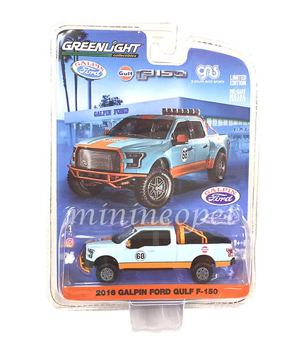 Greenlight 1: 64 Gas - 2016 Galpin Ford Gulf F-150 Diecast Vehicle