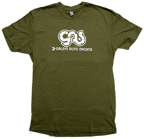 GAS Distressed Logo T-Shirt -Green