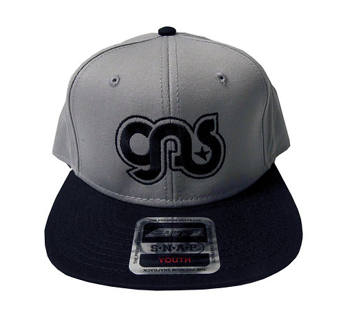 GAS Youth Snap Embriodered Hat Black and Gray