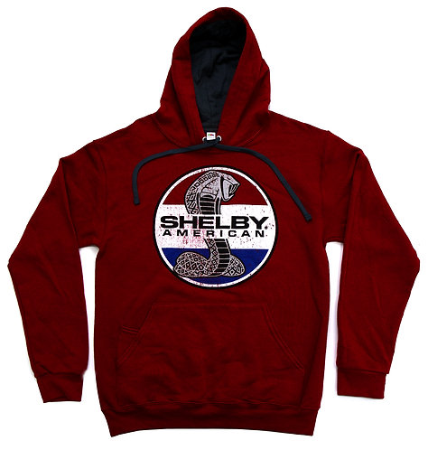 Shelby American Snake Cardinal Pullover Hoody