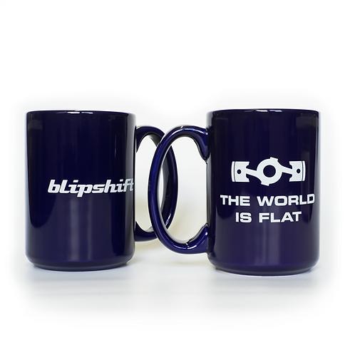 "BLIPSHIFT ""The World is Flat"" Coffee Mug"